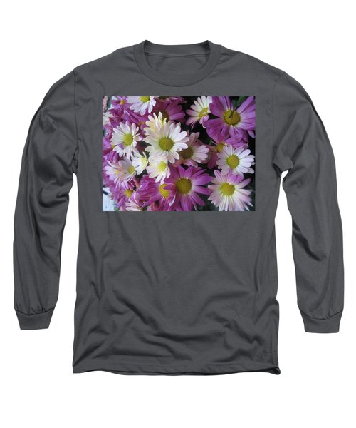 Long Sleeve T-Shirt featuring the photograph Vegas Butterfly Garden Flowers Colorful Romantic Interior Decorations by Navin Joshi