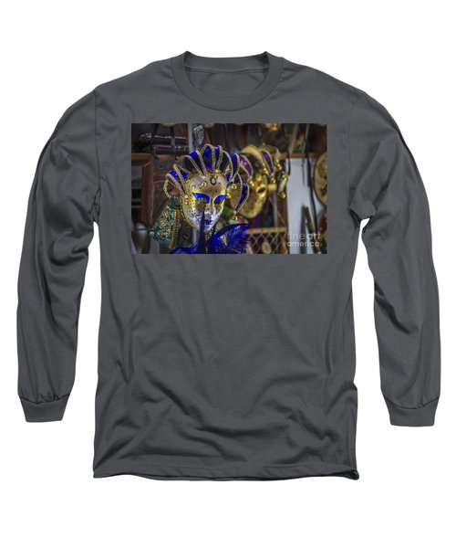 Venetian Carnival Masks Cadiz Spain Long Sleeve T-Shirt by Pablo Avanzini