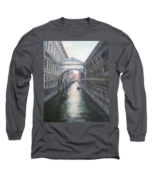 Venice Bridge Of Sighs - Original Oil Painting Long Sleeve T-Shirt