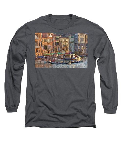 Venice Palazzi At Sundown Long Sleeve T-Shirt