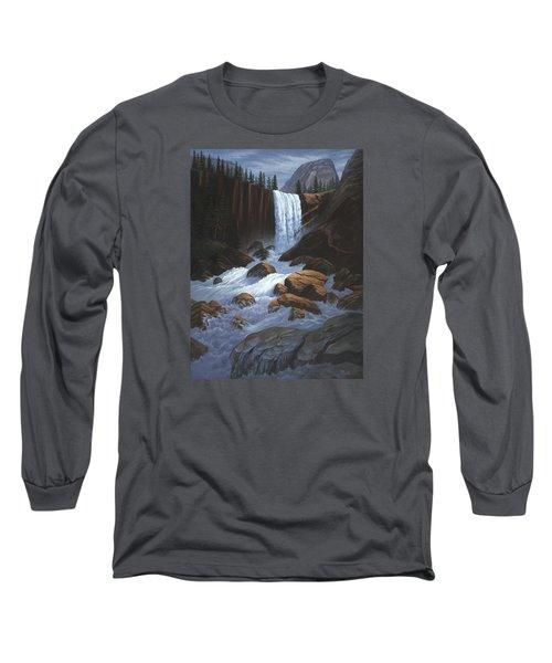Vernal Falls Yosemite  Long Sleeve T-Shirt