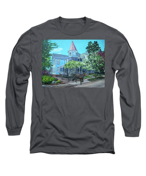 Long Sleeve T-Shirt featuring the painting Victorian Greenville by Bryan Bustard