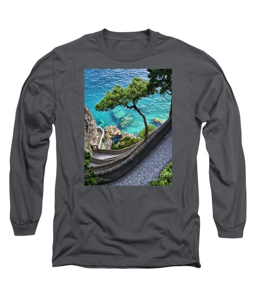 View From Capri.italy Long Sleeve T-Shirt by Jennie Breeze