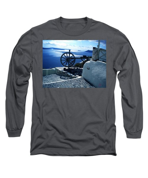 Long Sleeve T-Shirt featuring the photograph View From Santorini Island Greece by Colette V Hera  Guggenheim