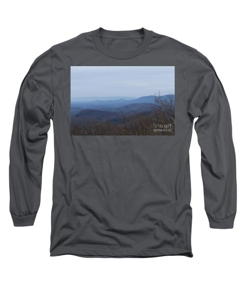 View From Springer Mountain Long Sleeve T-Shirt by Paul Rebmann