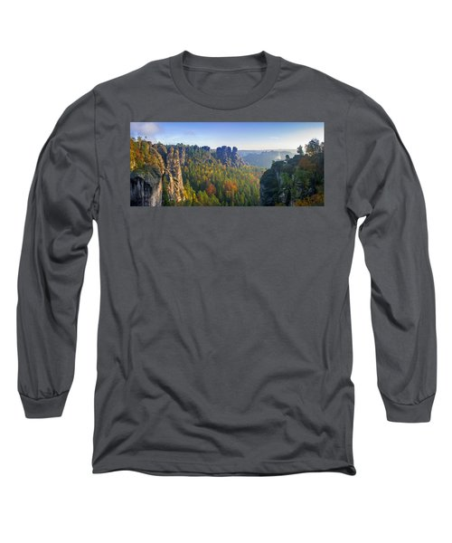 View From The Bastei Bridge In The Saxon Switzerland Long Sleeve T-Shirt