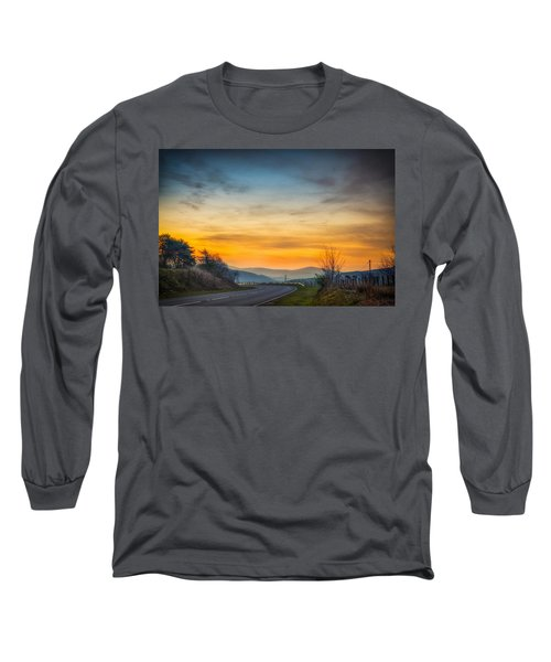 View Over Llyn Celyn Towards Bala Long Sleeve T-Shirt