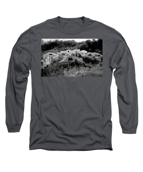 Village Nestled In The Hills  Long Sleeve T-Shirt