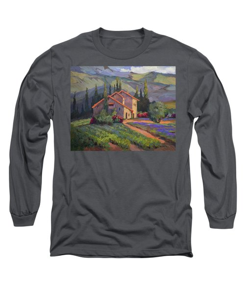 Vineyard And Lavender In Provence Long Sleeve T-Shirt