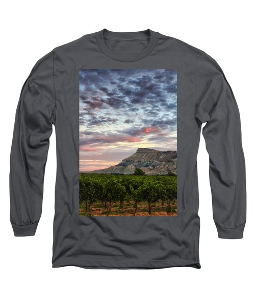 Vineyards And Mt Garfield Long Sleeve T-Shirt by Ronda Kimbrow