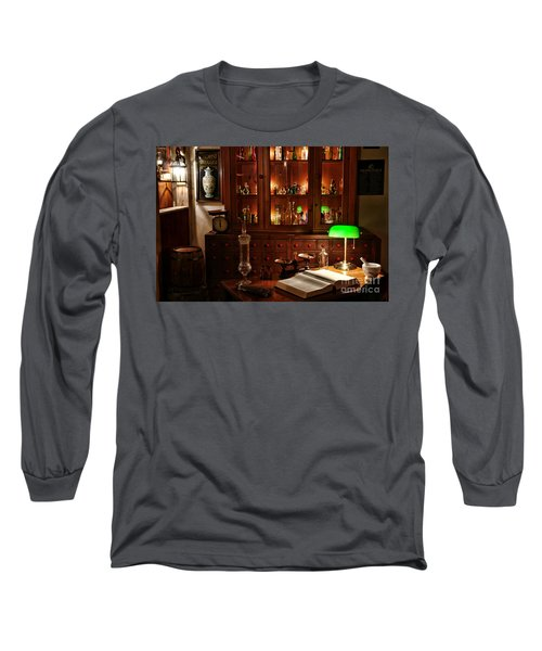 Vintage Apothecary Shop Long Sleeve T-Shirt