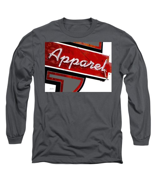 Vintage Apparel Sign Red And Gray Long Sleeve T-Shirt