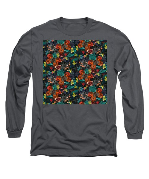 Vintage Butterfly Colour Long Sleeve T-Shirt