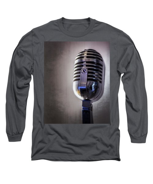 Vintage Microphone 2 Long Sleeve T-Shirt