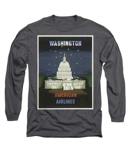 Vintage Travel Poster - Washington Long Sleeve T-Shirt