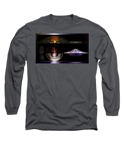 Long Sleeve T-Shirt featuring the digital art Visitor To Atlantis by Hartmut Jager