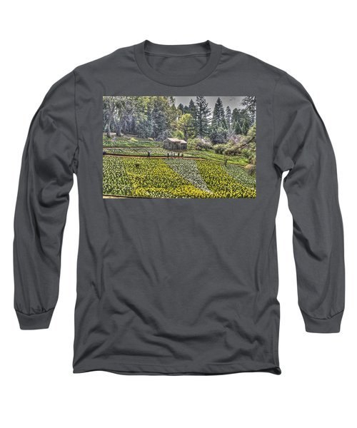 Visitors On Daffodil Hill Long Sleeve T-Shirt