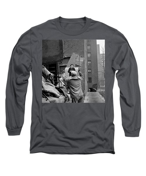 Vivian Maier Self Portrait Probably Taken In Chicago Illinois 1955 Long Sleeve T-Shirt by David Lee Guss