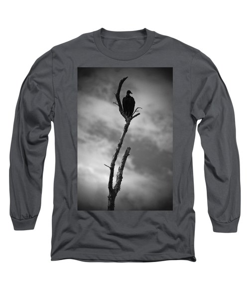Vulture Silhouette Long Sleeve T-Shirt by Bradley R Youngberg