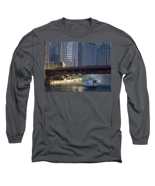 Long Sleeve T-Shirt featuring the photograph Wabash Street Bridge by John Hansen
