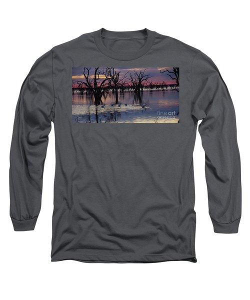 Wading The Shallows Long Sleeve T-Shirt by Blair Stuart