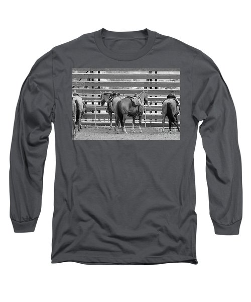 Long Sleeve T-Shirt featuring the photograph Waiting by Ann E Robson