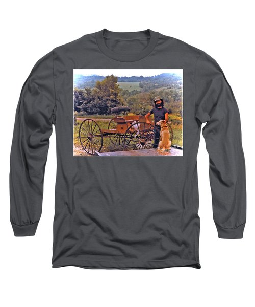 Waiting For A Lift On The Old Buckboard Long Sleeve T-Shirt