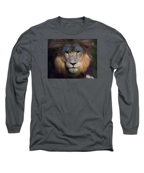 Waiting In The Shadows Long Sleeve T-Shirt by Tim Stanley