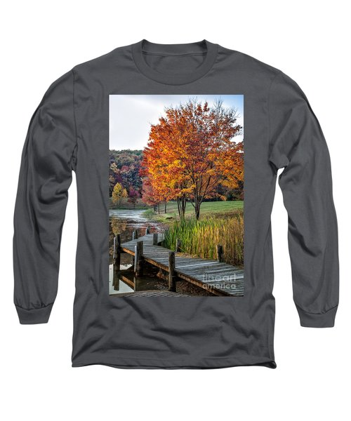 Walk Into Fall Long Sleeve T-Shirt by Ronald Lutz