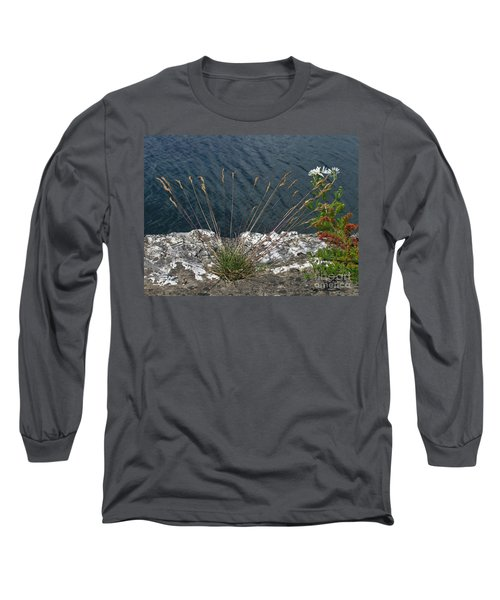 Long Sleeve T-Shirt featuring the photograph Flowers In Rock by Brenda Brown