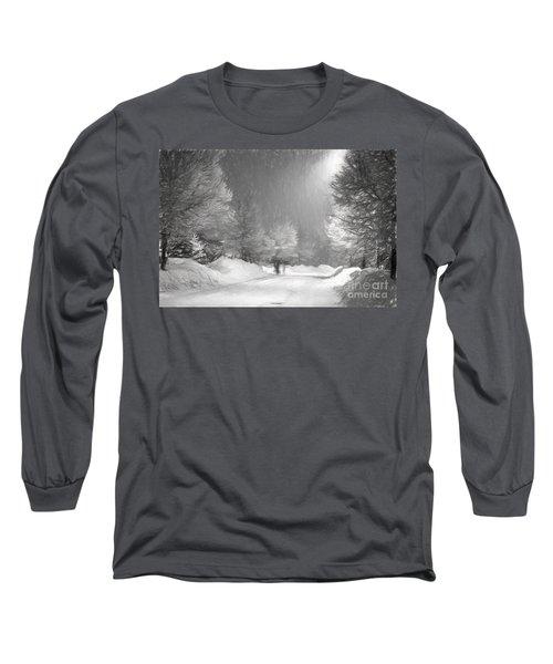 Winter Walk Long Sleeve T-Shirt by Les Palenik