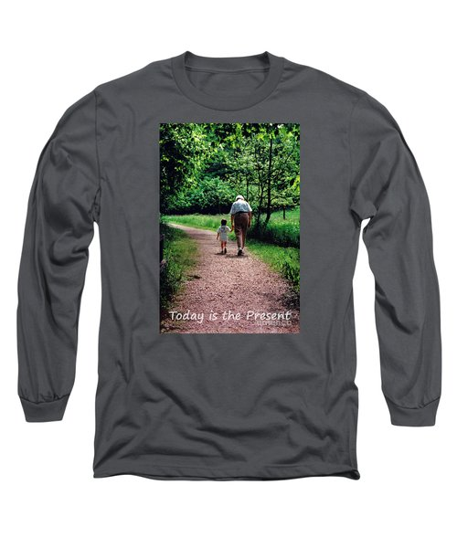 Walking With Grandma Long Sleeve T-Shirt