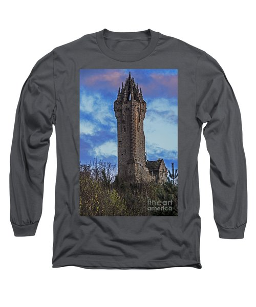 Wallace Monument During Sunset Long Sleeve T-Shirt