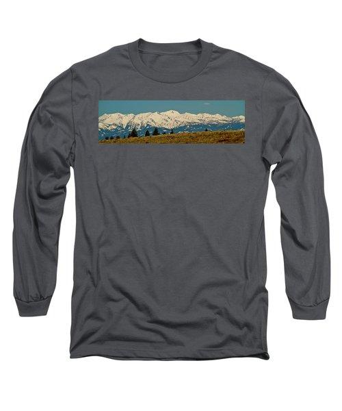 Wallowa Mountains Oregon Long Sleeve T-Shirt by Ed  Riche