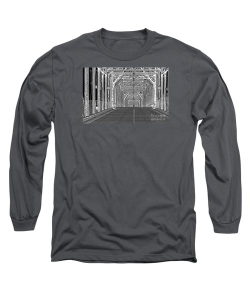 Long Sleeve T-Shirt featuring the photograph Walnut Black And White by Geraldine DeBoer