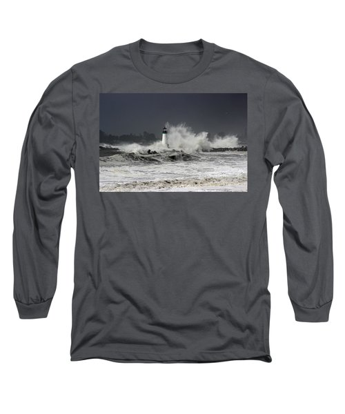 Walton Lighthouse Takes A Beating Long Sleeve T-Shirt