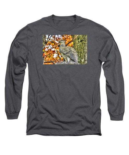 Long Sleeve T-Shirt featuring the photograph War Eagles - 28th Massachusetts Volunteer Infantry Rose Woods The Wheatfield Fall-a Gettysburg by Michael Mazaika