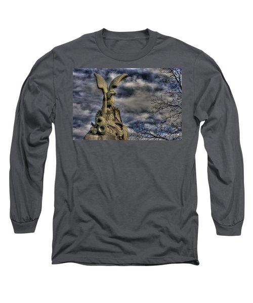 Long Sleeve T-Shirt featuring the photograph War Eagles - 88th Pa Volunteer Infantry Cameron Light Guard-b1 Oak Hill Autumn Gettysburg by Michael Mazaika