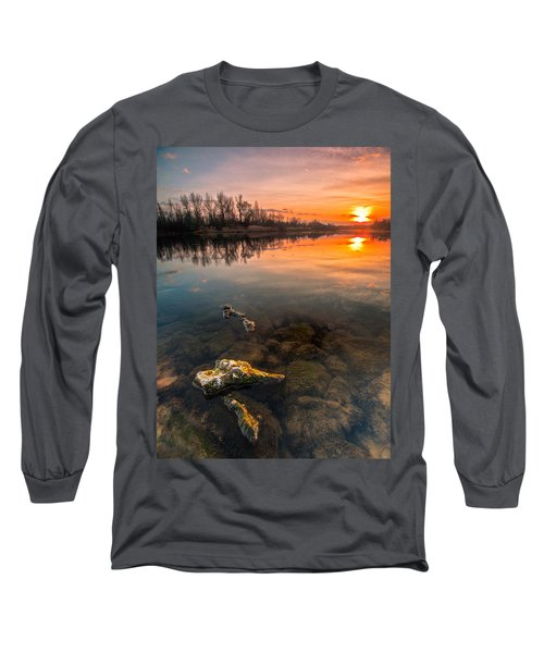 Watching Sunset Long Sleeve T-Shirt by Davorin Mance