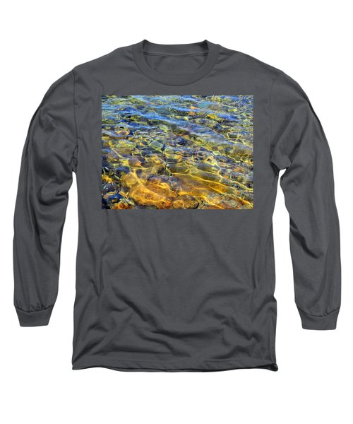 Water Abstract Long Sleeve T-Shirt by Lynda Lehmann