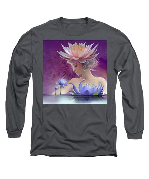 Water Of Life - In Violet Long Sleeve T-Shirt