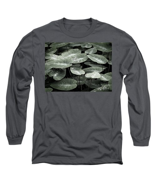 Long Sleeve T-Shirt featuring the photograph Water On Ivy by Ellen Cotton