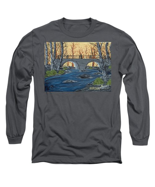 Long Sleeve T-Shirt featuring the painting Water Under The Bridge by Brenda Brown