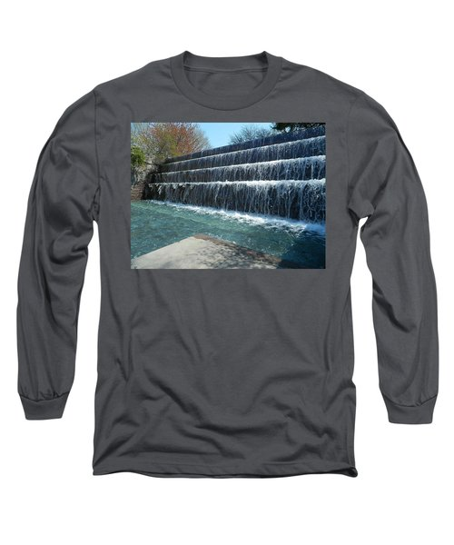 Long Sleeve T-Shirt featuring the photograph Waterfall Heaven by Emmy Marie Vickers