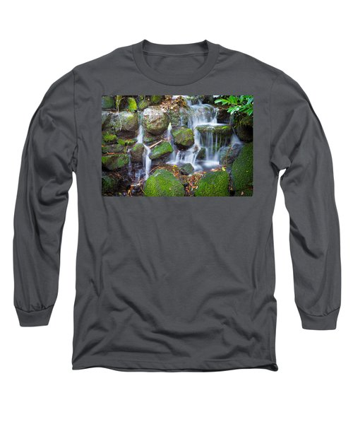 Waterfall In Marlay Park Long Sleeve T-Shirt by Semmick Photo