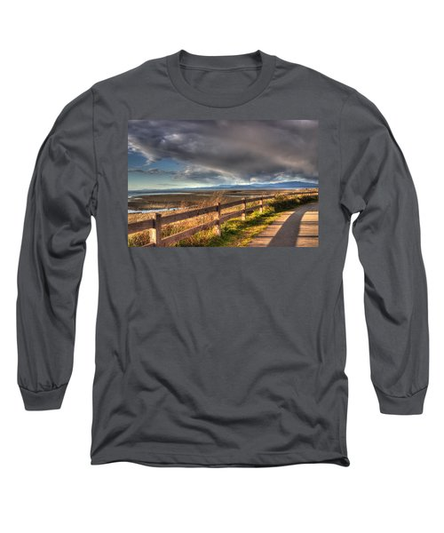 Waterfront Walkway Long Sleeve T-Shirt by Randy Hall