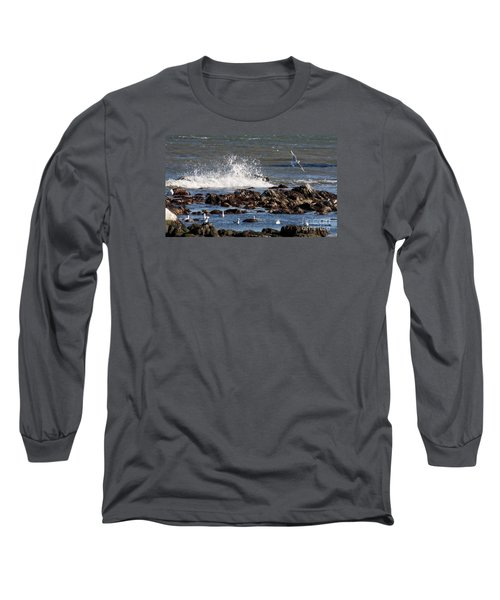 Waves Wind And Whitecaps Long Sleeve T-Shirt by John Telfer