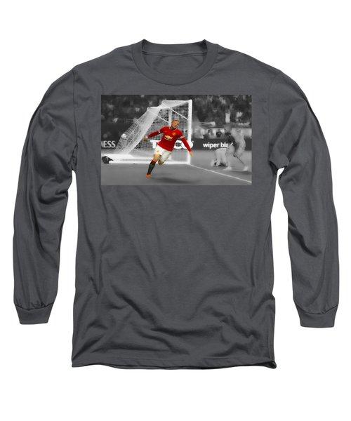 Wayne Rooney Scores Again Long Sleeve T-Shirt