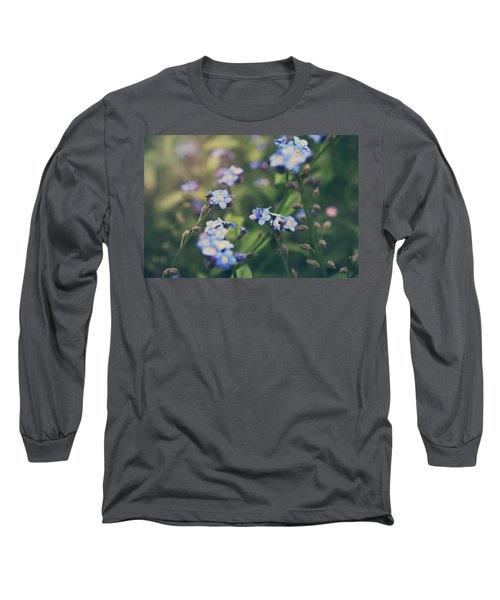 Long Sleeve T-Shirt featuring the photograph We Lay With The Flowers by Laurie Search
