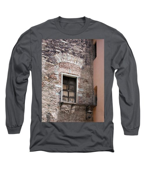 Long Sleeve T-Shirt featuring the photograph Weathered Wooden Church Doors by Lynn Palmer